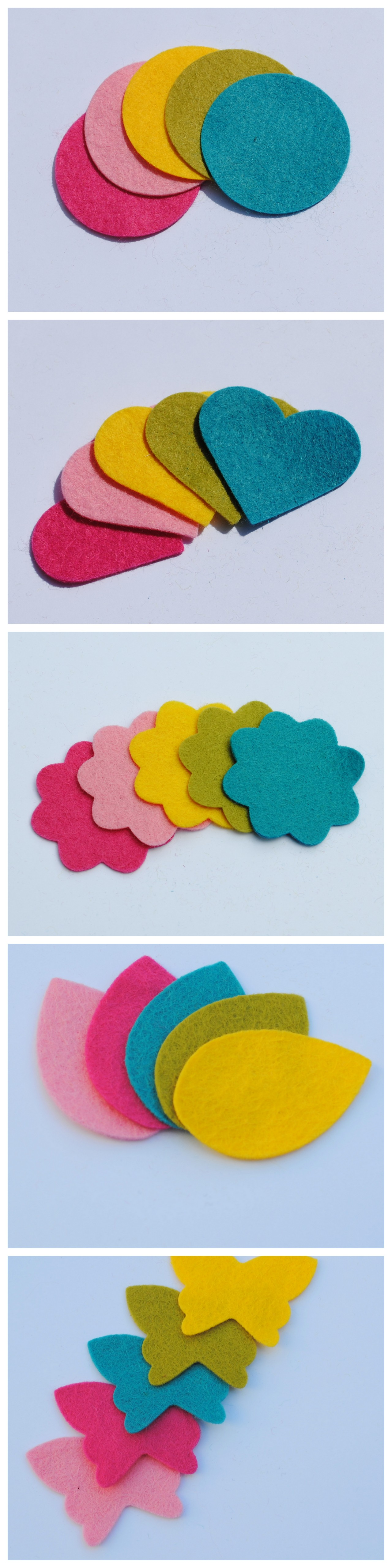 Felt Shapes Cut to Order